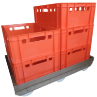 Double trolley for EURO E2 containers - NEW