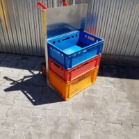 Trolley for transporting containers EURO E2, E1