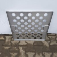 Pressure plate for stuffing trolley