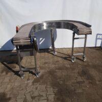 Stainless steel angular belt conveyor - 180 degrees